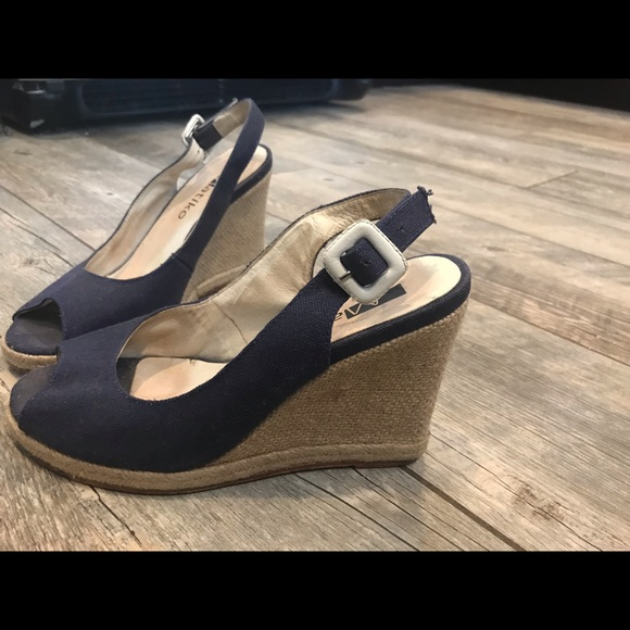Matiko Shoes - Navy wedges shoe